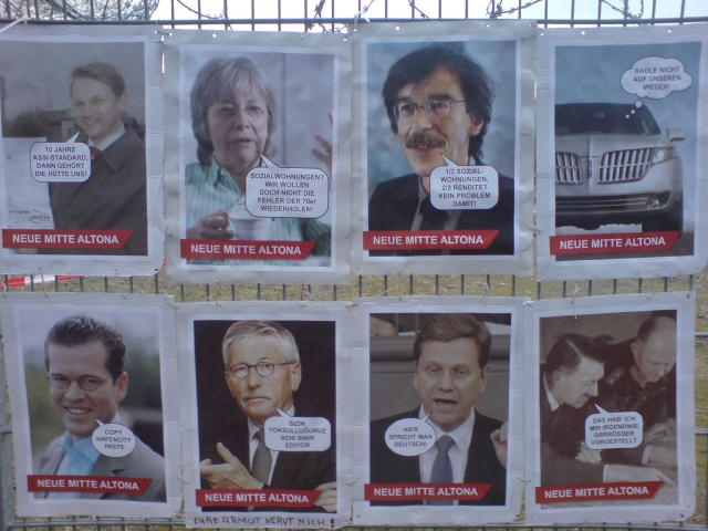 Plakat-Aktion zu NEUE MITTE ALTONA