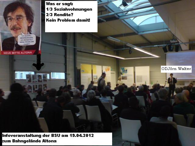 Prof. Jörn Walter und sein Plakat am 19.04.2012